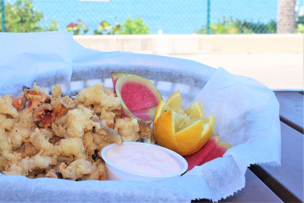 A photo of Bahamian cuisine at a restaurant on Paradise Island.